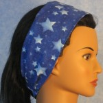 Headband in blue with stars and sparkles - side