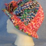 Cloche with Flower Hat in Bright Speckle Print - left
