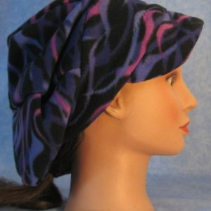 Slouchy Newsboy Hat in Purple Wave - side