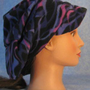 Slouchy Newsboy Hat in Purple Wave - side