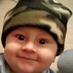 Baby in Camo Cap