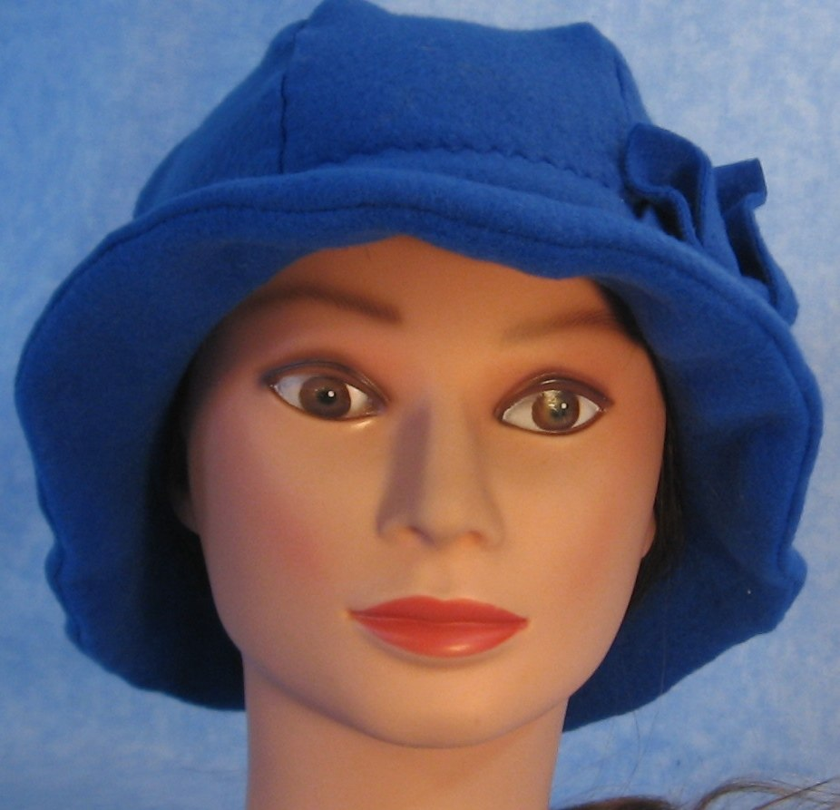 Cloche Hat in Royal Blue-Adult S