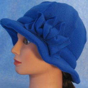 Cloche with Flower-Royal Blue-side