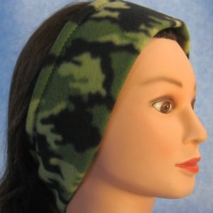 Ear Warmer in Green and Green Camo