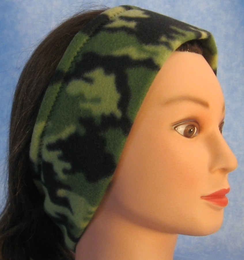 Ear Warmer in Green Green Camo-Adult L