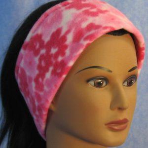 Ear Warmer in Pink Flower Print