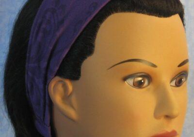 Headband in Purple, Flower, Burnout Knit