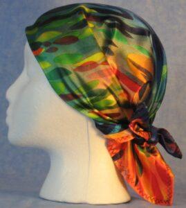 Head wrap worn as a wrap - side view