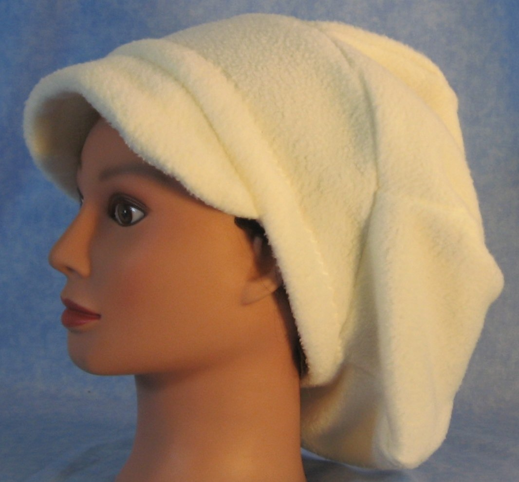 Newsboy Hat in White-Adult S