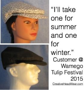 2 Flat Caps Wamego Tulip Festival 2015