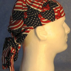Hair Bag in Flags Overall Print - side