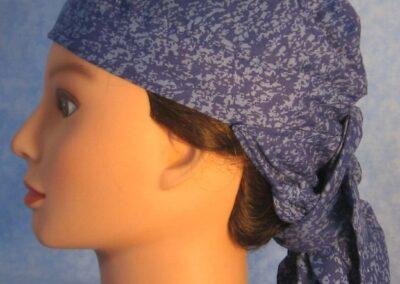 Hair Bag in Splotchy Blues - side