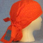 Hair Stocking in Orange Curls with Jeans Needlework Tail - side