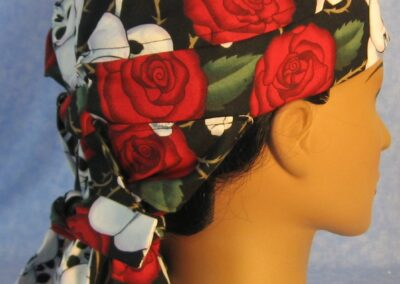 Hair Stocking in Skull and Roses - side