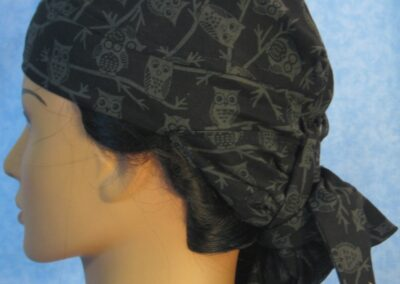 Hair Stocking in Black Owls - side