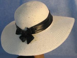 Wide Brim Hat Band-Shiny Black