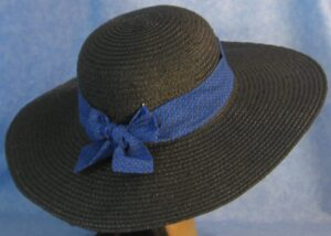 Wide Brim Hat Band-Blue Feathers