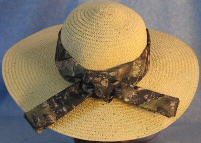 Wide Brim Hat Band-Green Camo