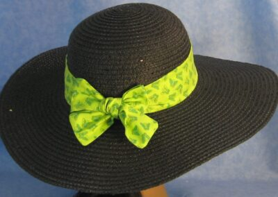 Wide Brim Hat Band-Lime Butterflies