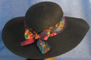 Wide Brim Hat Band-Blue Pink Orange Oily