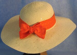Wide Brim Hat Band-Orange Curls