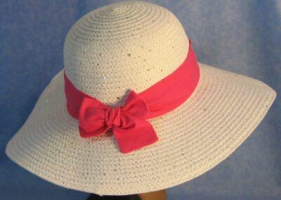Wide Brim Hat Band-Pink