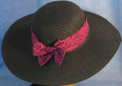 Wide Brim Hat Band-Pink Leopard