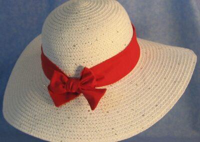 Wide Brim Hat Band-Red