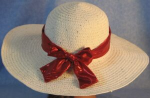 Wide Brim Hat Band-Red Shiny