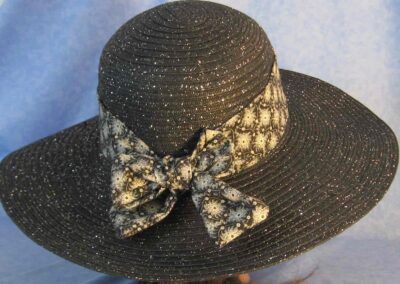 Wide Brim Hat Band-Snowflakes