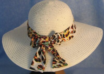 Wide Brim Hat Band-Yellow Green Speckles