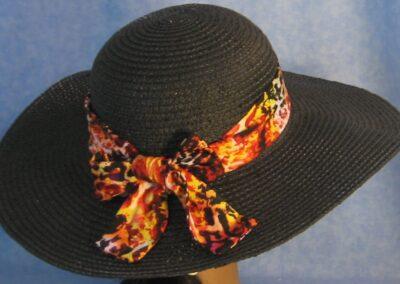 Wide Brim Hat Band-Yellow Orange Black Speckles