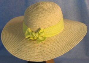 Wide Brim Hat Band-Yellow Diamond Daisy