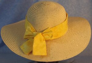 Wide Brim Hat Band-Yellow Dragonflies