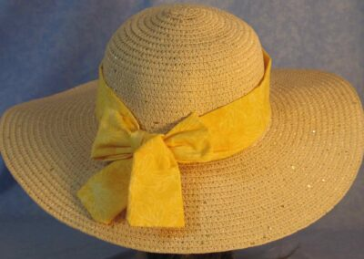 Wide Brim Hat Band-Yellow Dragonflies