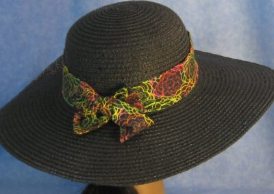 Hat Band in Yellow Red Lime Line Flowers