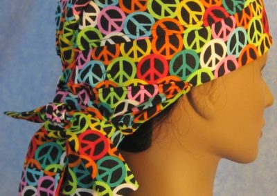 Hair Stocking in Black Rainbow Peace - side