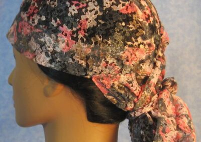 Hair Stocking in Lace Pink Flower - side