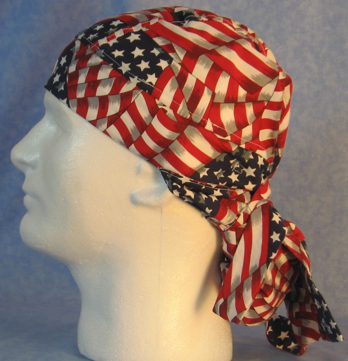 Hair Bag Do Rag in Flags Overall Big - Youth L-XL-Adult S