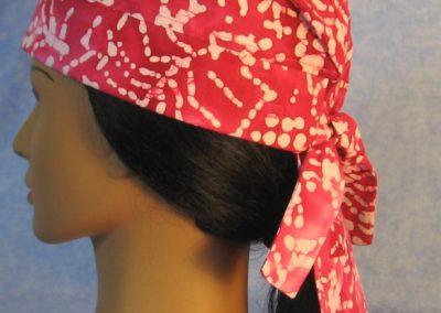 Do Rag in Pink White Batik - side