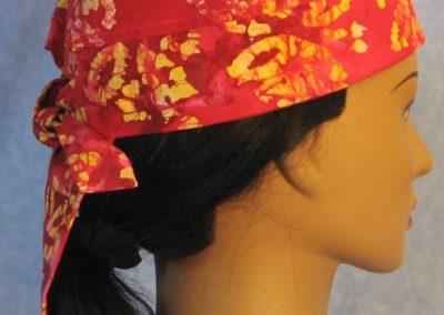 Do Rag in Pink Yellow Flower Batik - side