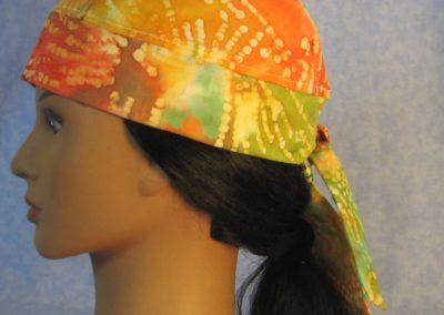 Do Rag in Yellow Orange Green Batik - left side