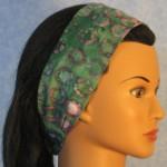 Headband in Teal Lavender Batik - side