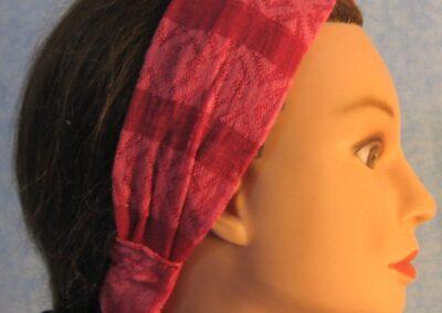 Headband in Pink Lacy Stripe - side