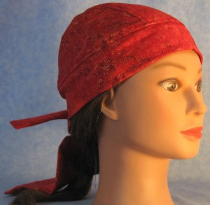 Do Rag in Red Splotch with Gold Sparkles - right