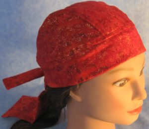 Do Rag in Red Splotch with Gold Sparkles - right front