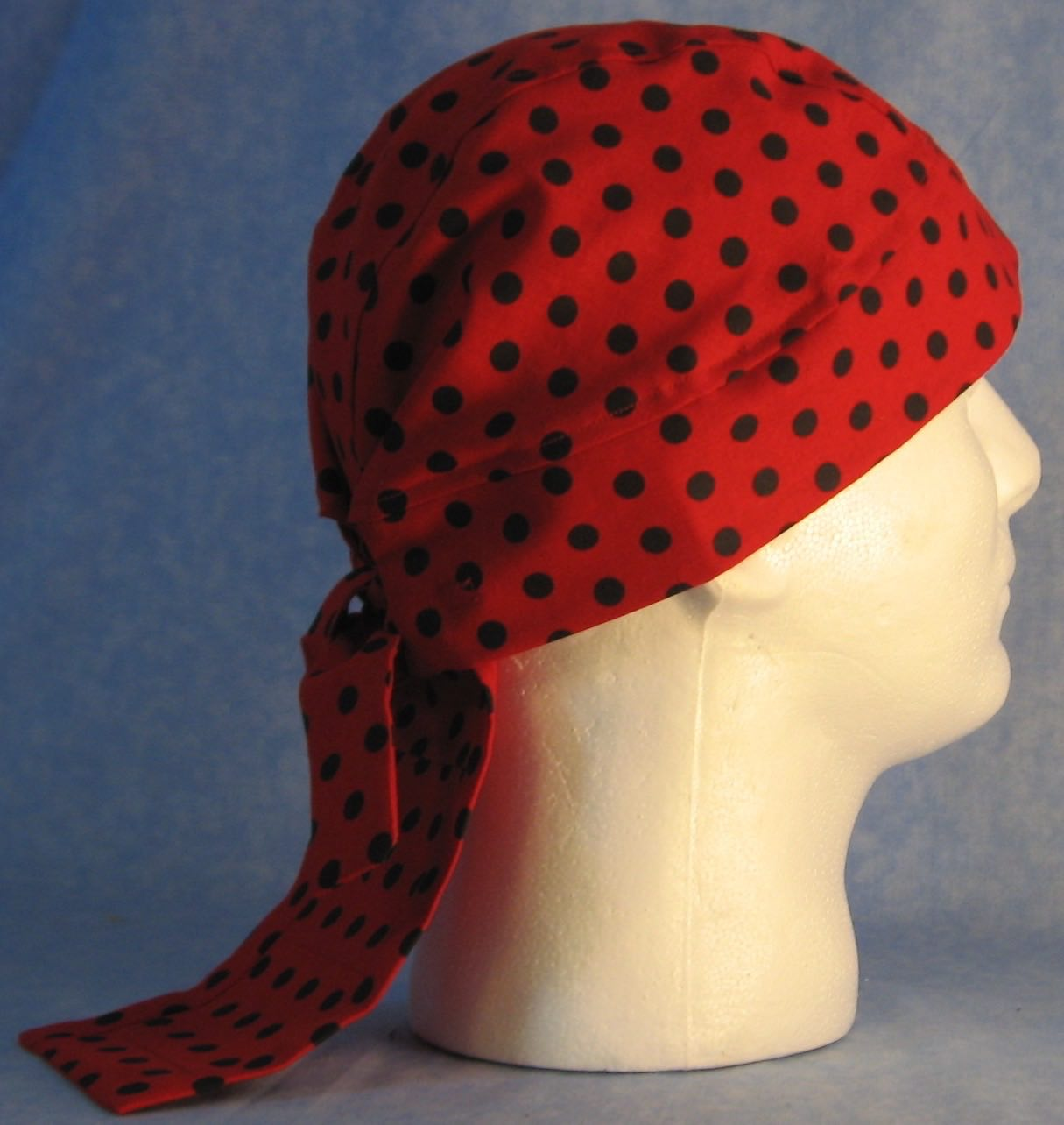 Do Rag in Red Black Polka Dot-Adult 1XL-3XL