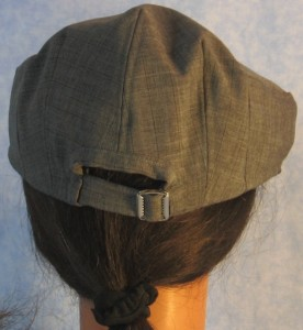 Flat Cap - Blue Stripe - female back