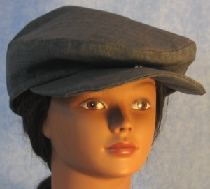 Flat Cap - Blue Stripe - female front