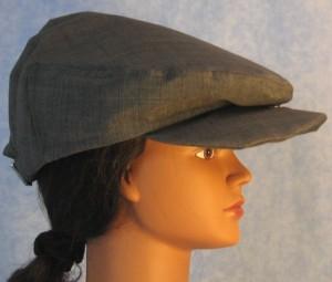 Flat Cap - Blue Stripe - female right